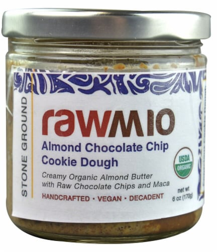 Windy City Organics  Rawmio™ Organic Almond Butter   Chocolate Chip Cookie Dough Perspective: front