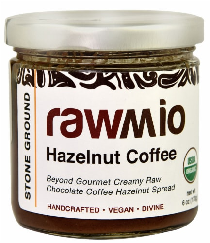 Windy City Organics  Rawmio Organic Hazelnut Spread   Chocolate Coffee Perspective: front