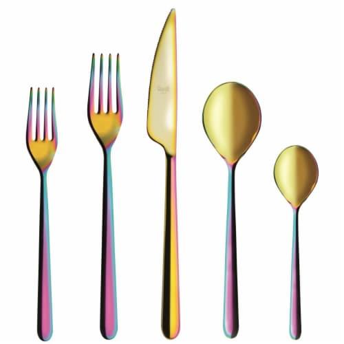 Mepra 109922020 Linea Cutlery Set, Rainbow - 20 Piece Perspective: front
