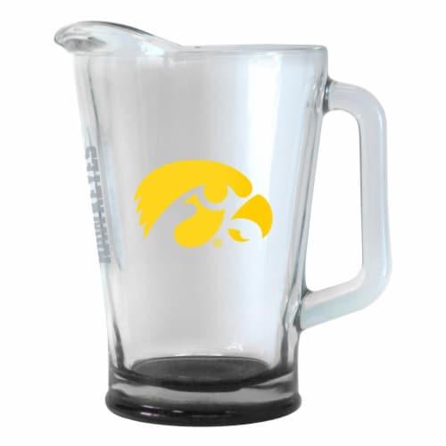 Iowa Hawkeyes 60 oz Elite Glass Pitcher Perspective: front