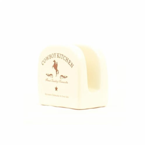 Western Moments 6116014 Cowboy Kitchen Napkin Holder Perspective: front