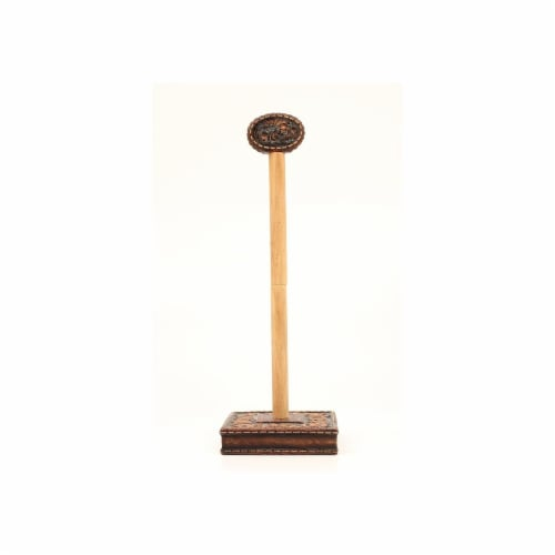 Western Moments 94950 Cowboy Prayer Paper Towel Holder Perspective: front
