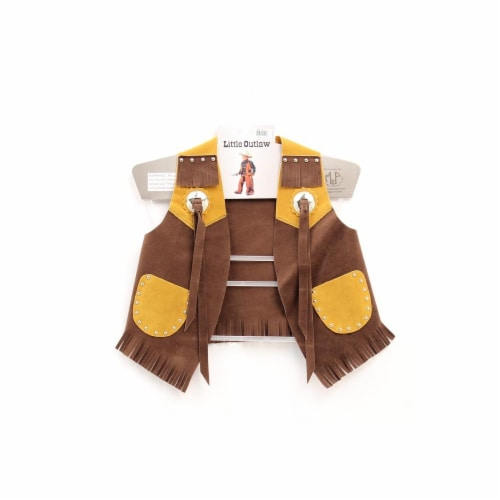 M&F Western Kids Faux Suede Vest, Brown - Large Perspective: front
