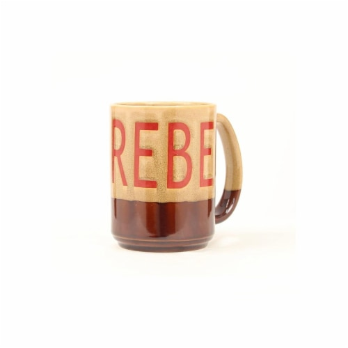 Western Moments 94851 Rebel Coffee Mug, Tan & Brown Perspective: front