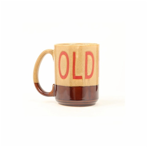 Western Moments 94837 OLD FART Coffee Mug, Tan & Brown Perspective: front
