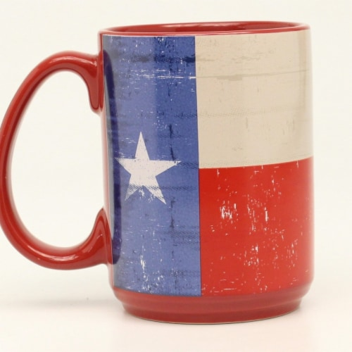 Western Moments 94098 Texas Flag Mug Perspective: front