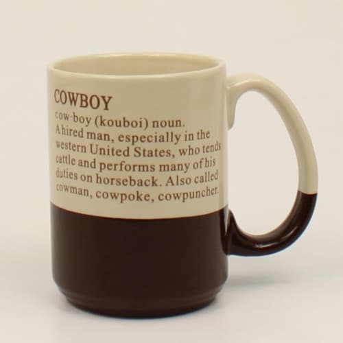M&F Western 94975 Cowboy Definition Mug Perspective: front