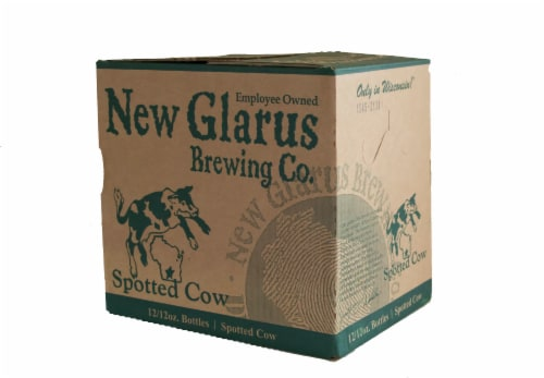 New Glarus Brewing Co. Spotted Cow Ale Beer Perspective: front