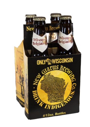 New Glarus Wisconsin Belgian Red Beer Perspective: front