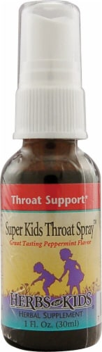 Herbs For Kids  Super Kid's Throat Spray ™   Peppermint Perspective: front