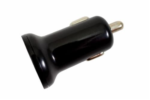 CELLCandy Dual USB Car Charger - Black Perspective: front