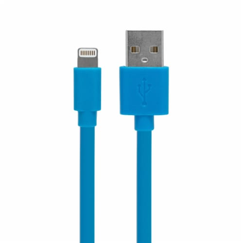CELLCandy USB-to-Lightning Sync/Charge Cable - Tropical Blue Perspective: front