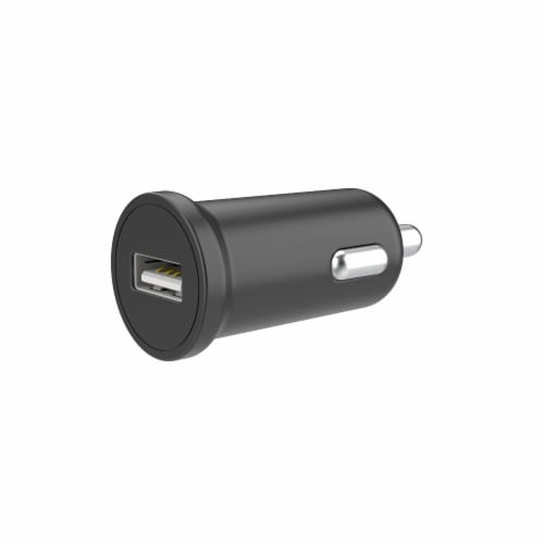CELLCandy 1-Amp USB Car Charger - Black Perspective: front