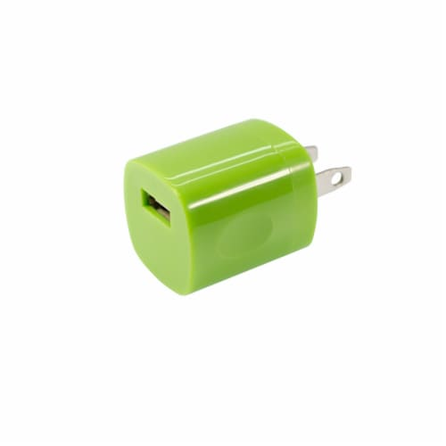 CELLCandy USB AC Charger - Sour Apple Green Perspective: front