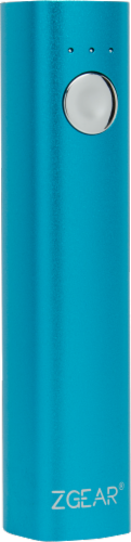 ZGear Instant Power 2600mAh Power Bank - Blue Perspective: front