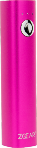 Z GEAR® 2600 mAh Instant Power Charger for Smart Phones and USB Devices - Pink Perspective: front