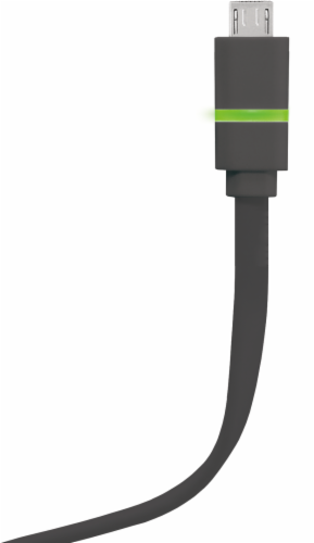 ZGear Smart LED Micro USB Charge and Sync Cable - Black Perspective: front