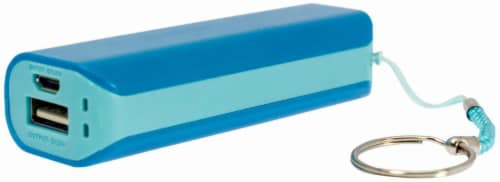 CELLCandy Portable USB Power Pack - Tropical Blue Perspective: front
