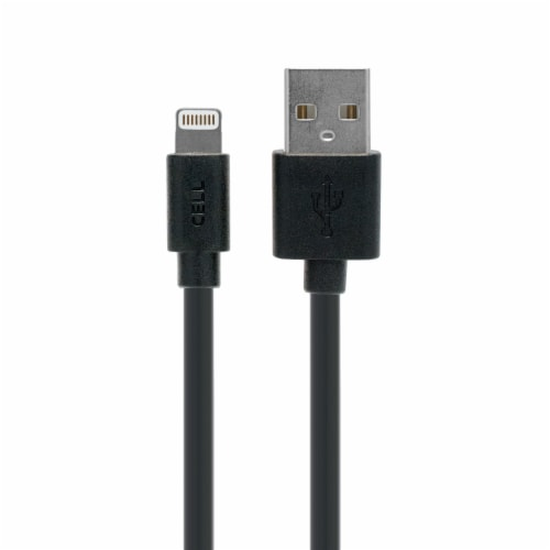 CELLCandy USB-to-Lightning Sync/Charge Cable for iPhone 5 - Purple Perspective: front
