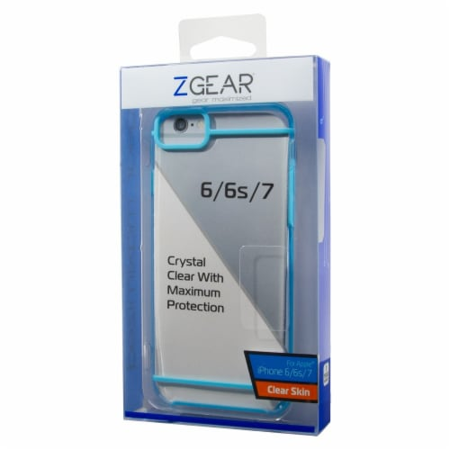 ZGear Clear Skin iPhone 6/6S/7 Case - Clear/Blue Perspective: front