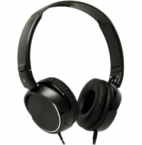Acoustix Stereo Headphones with Microphone - Black Perspective: front