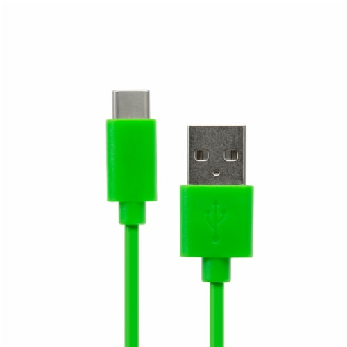 CELLCandy Type C Cable - Green Perspective: front