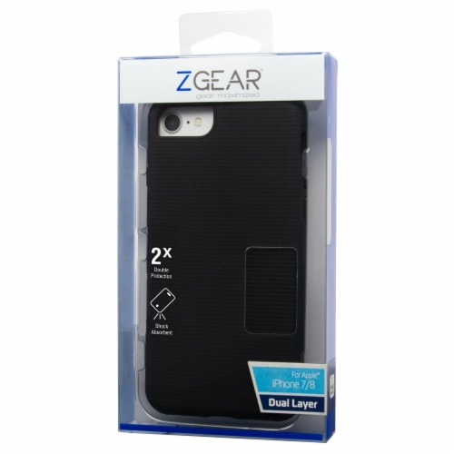 ZGear Dual Layer iPhone 7/8 Case - Black Perspective: front
