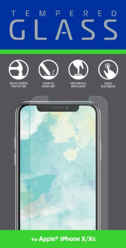 ZGear Tempered Glass iPhone X/XS Screen Protector - Clear Perspective: front