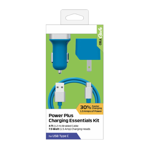 ZGear Power Plus Charging Essentials Kit - Blue Perspective: front