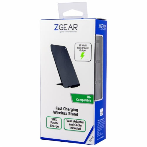 ZGear Fast Charging Wireless Stand - Black Perspective: front