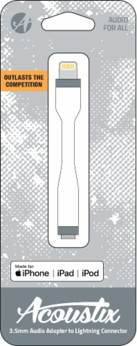 Acoustix 3.5mm to Lightning Audio Adapter - White Perspective: front