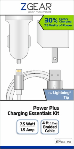 ZGear Power Plus Charging Essentials Kit Perspective: front