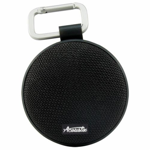 Acoustix Wireless Waterproof Speaker - Black Perspective: front