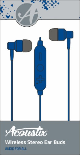 Acoustix Wireless Earbud - Blue Perspective: front