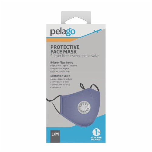 Pelago Protective Face Mask - Blue Perspective: front