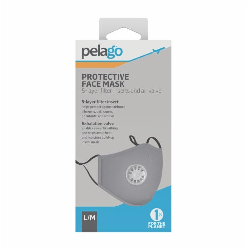 Pelago Protective Face Mask - Gray Perspective: front