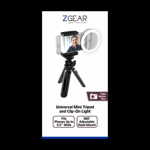 ZGear Universal Mini Tripod & Clip-On Light Perspective: front