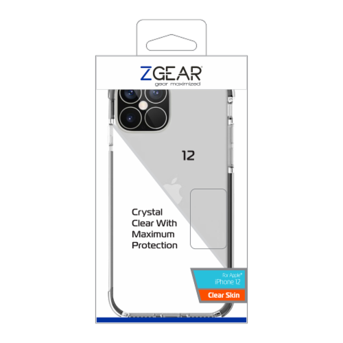 ZGear Clear Skin iPhone 12 Case Perspective: front