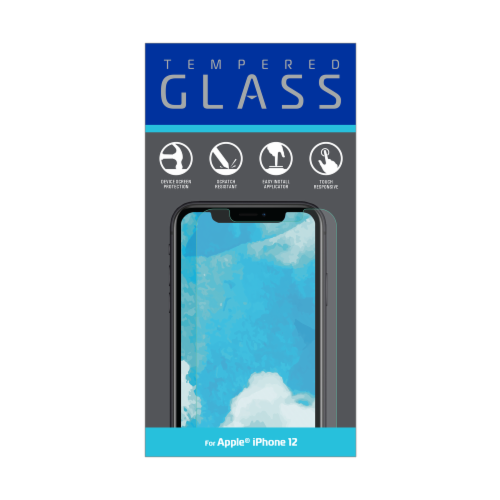ZGear Tempered Glass iPhone 12 Screen Protector Perspective: front