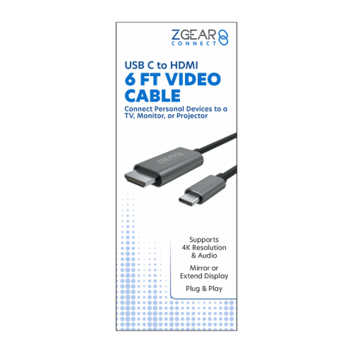 ZGear USB C to HDMI Video Cable Perspective: front