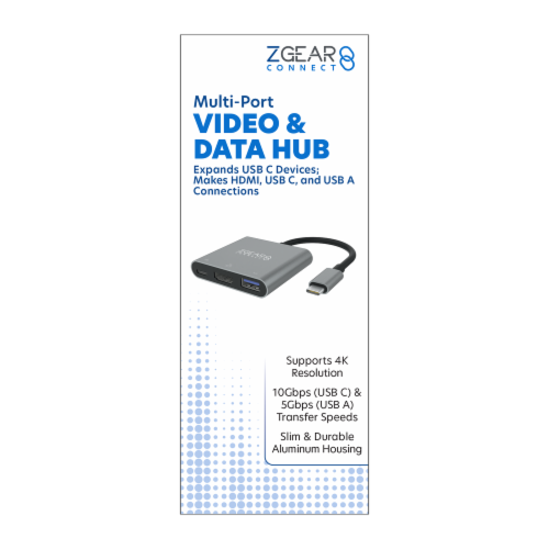 ZGear Multi-Port Video & Data Hub Perspective: front