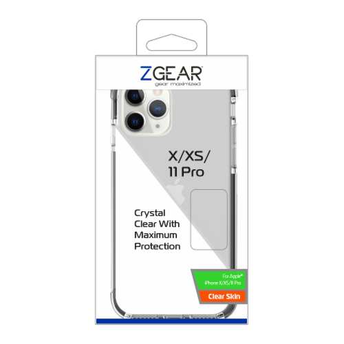 ZGear Clear Skin iPhone 11 Pro Case Perspective: front