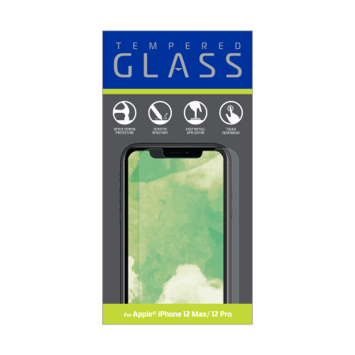 ZGear Tempered Glass iPhone 12 Max/Pro Screen Protector Perspective: front