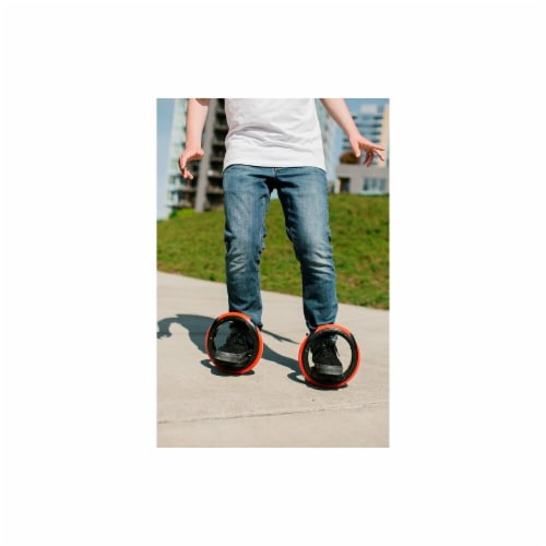 Inventist OW Orbitwheel Boardless Skateboard, Red & Black Perspective: front