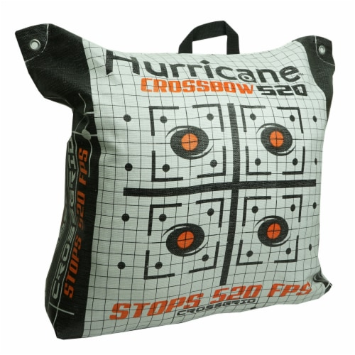 Hurricane H60410 Double Sided 460 FPS Woven Crossbow Archery Bag Target, White Perspective: front