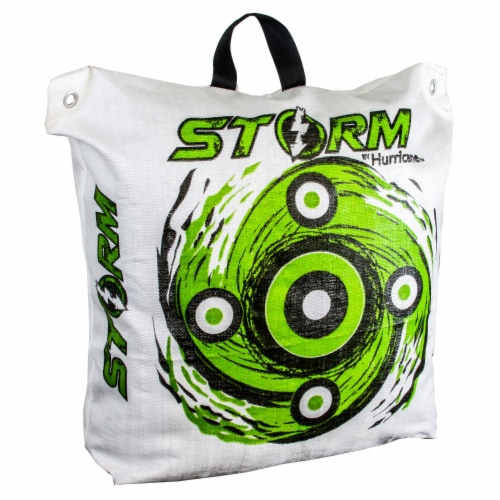 Hurricane H63000 Storm II 20 600 FPS High Contrast Archery Bag Target, White Perspective: front
