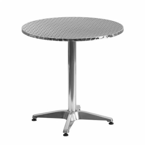 Pemberly Row Aluminum Round Bistro Table Perspective: front