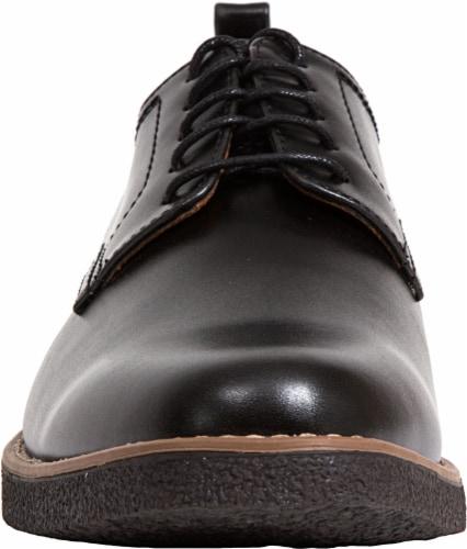 Deer Stags Highland Men's Plain Toe Oxfords - Black Perspective: front