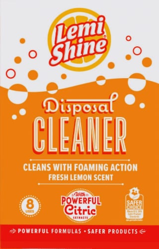 Lemi Shine Lemon Scented Disposal Cleaner 8 Count Perspective: front