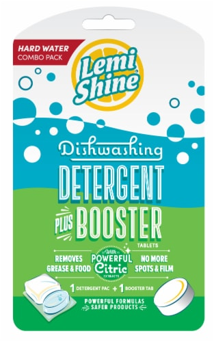 Lemi Shine Dishwashing Detergent Plus Booster Hard Water Combo Pack Perspective: front